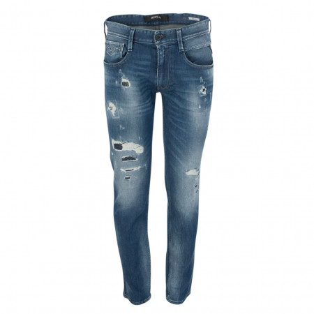 Jeans - Slim Fit - Destroyed-Patches