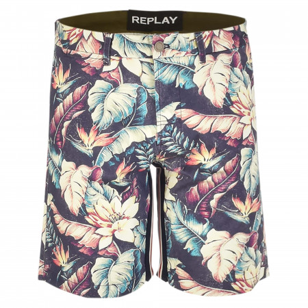 SALE % | Replay | Shorts - Regular Fit - Flower-Prints | Bunt online im Shop bei meinfischer.de kaufen