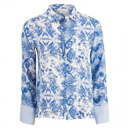 SALE %   Rich&Royal   Hemdbluse - Regular Fit - Muster   Blau online im Shop bei meinfischer.de kaufen