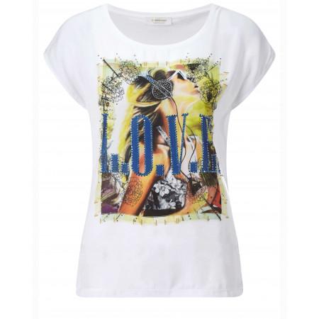 SALE % | Rich&Royal | T-Shirt - Regular Fit - Print | Weiß online im Shop bei meinfischer.de kaufen