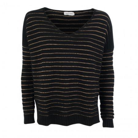 SALE % | Rinascimento | Pullover - oversized - Glitzer-Stripes | Schwarz online im Shop bei meinfischer.de kaufen