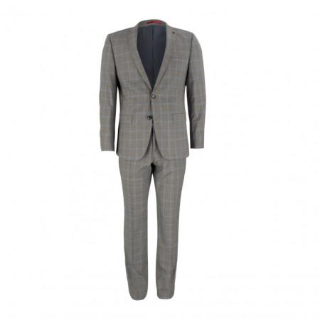 SALE % | Boss Casual | Anzug - Regular Fit - Schurwolle | Grau online im Shop bei meinfischer.de kaufen