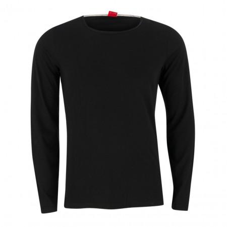 SALE % | S.Oliver Man | Longsleeve - fitted - Crewneck | Schwarz online im Shop bei meinfischer.de kaufen
