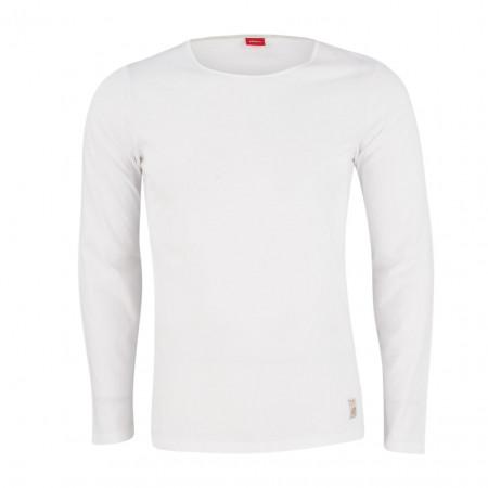 SALE %   S.Oliver Man   Longsleeve - fitted - Crewneck   Weiß online im Shop bei meinfischer.de kaufen