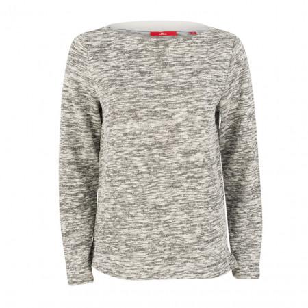 SALE % | Boss Casual | Pullover - oversized - Melange-Optik | Grau online im Shop bei meinfischer.de kaufen