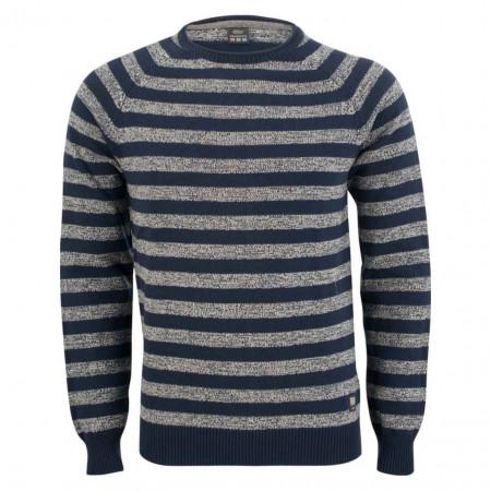 SALE % | S.Oliver Man | Pullover - Modern Fit - Blockstreifen | Blau online im Shop bei meinfischer.de kaufen