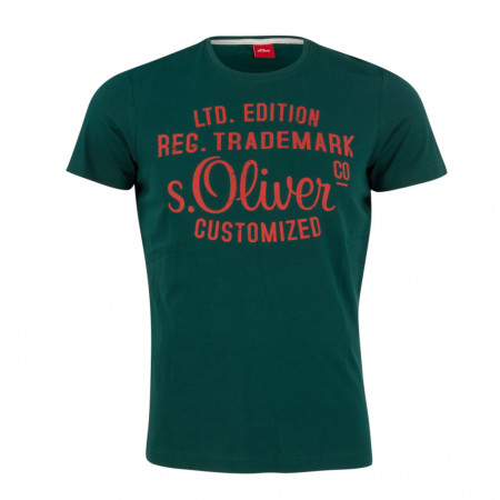 SALE % | S.Oliver Man | T-Shirt - Regular Fit - Print | Grün online im Shop bei meinfischer.de kaufen