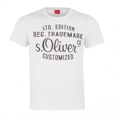 SALE % | Boss Casual | T-Shirt - Regular Fit - Print | Weiß online im Shop bei meinfischer.de kaufen