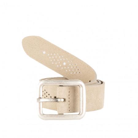 SALE % | Boss Casual | Ledergürtel - 4cm - perforiert | Beige online im Shop bei meinfischer.de kaufen