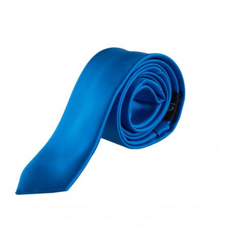 SALE % | Seidenfalter | Krawatte - uni - 5cm | Blau online im Shop bei meinfischer.de kaufen