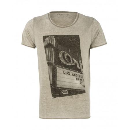 SALE % | Boss Casual | T-Shirt Frontprint | Grau online im Shop bei meinfischer.de kaufen
