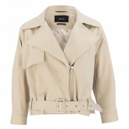 SALE % | SET | Jacke Regular Fit - Unifarben | Weiß online im Shop bei meinfischer.de kaufen