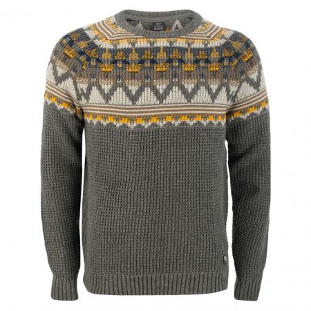 SALE % | S.Oliver Man | Pullover - Regular Fit - Muster | Grau online im Shop bei meinfischer.de kaufen