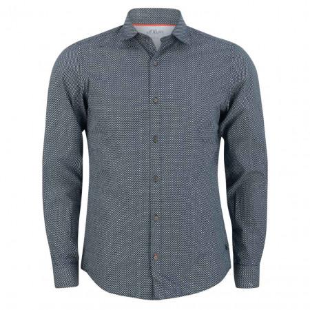 SALE % | S.Oliver Man | Freizeithemd - Slim Fit - Minicheck | Blau online im Shop bei meinfischer.de kaufen