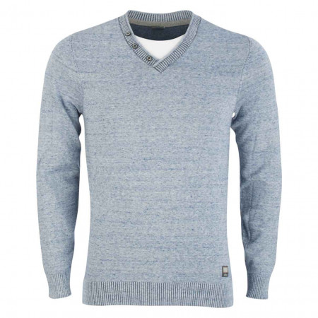 SALE %   S.Oliver Man   Pullover - Regular Fit - Shirt-Einsatz   Blau online im Shop bei meinfischer.de kaufen