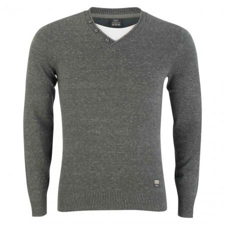 SALE % | S.Oliver Man | Pullover - Regular Fit - Shirt-Einsatz | Grau online im Shop bei meinfischer.de kaufen