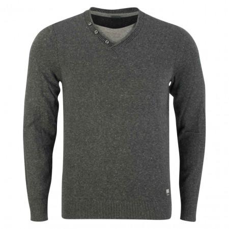 SALE %   S.Oliver Man   Pullover - Regular Fit - Shirt-Einsatz   Grau online im Shop bei meinfischer.de kaufen