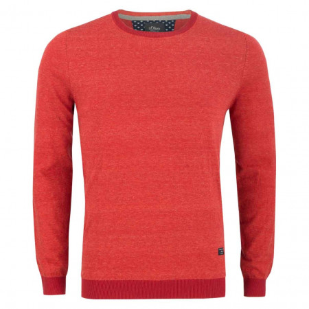 SALE % | S.Oliver Man | Pullover - Regular Fit - Stripes | Rot online im Shop bei meinfischer.de kaufen