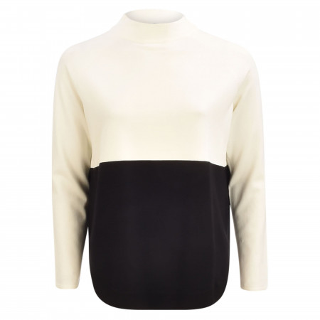 SALE % | s.Oliver BLACK LABEL | Pullover - Loose Fit - Turtleneck | Weiß online im Shop bei meinfischer.de kaufen