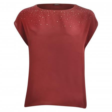 SALE % | s.Oliver BLACK LABEL | T-Shirt - Loose Fit - Strass | Rot online im Shop bei meinfischer.de kaufen