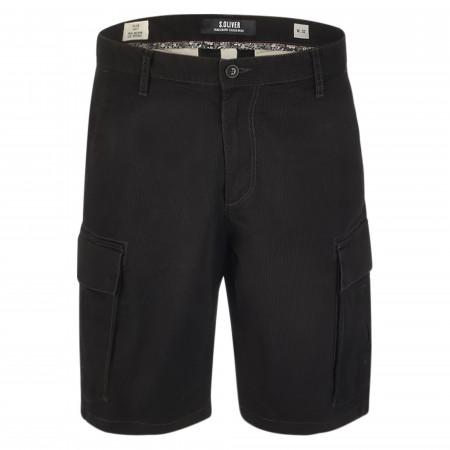 SALE % | S.Oliver Man | Shorts - Loose Fit - Plek | Schwarz online im Shop bei meinfischer.de kaufen