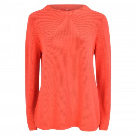 SALE % | s.Oliver RED LABEL | Strickpullover - Regular Fit - unifarben | Orange online im Shop bei meinfischer.de kaufen
