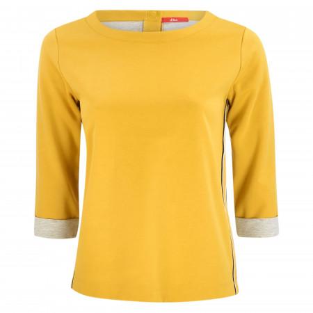 SALE %   s.Oliver RED LABEL   Sweatshirt - Loose Fit - Crewneck   Gelb online im Shop bei meinfischer.de kaufen