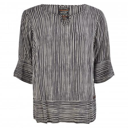 SALE % | s'questo | Bluse - oversized - 3/4-Arm | Schwarz online im Shop bei meinfischer.de kaufen