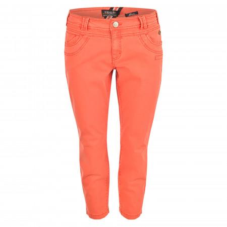SALE % | s'questo | Caprijeans - Straight Fit - 5 Pocket | Orange online im Shop bei meinfischer.de kaufen