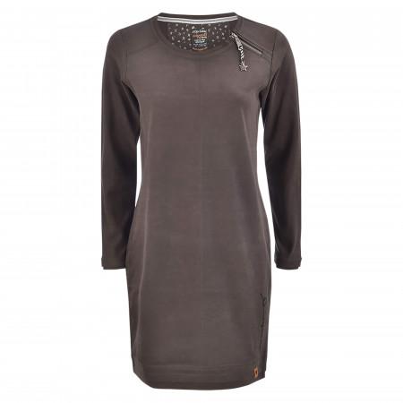 SALE % | s'questo | Sweatkleid - Regular Fit - Zipper | Grau online im Shop bei meinfischer.de kaufen