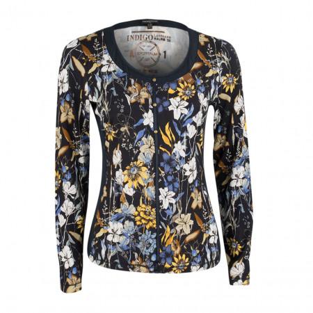 SALE %   Boss Casual   Jerseyshirt - Noemi Print - Flowerprint   Bunt online im Shop bei meinfischer.de kaufen