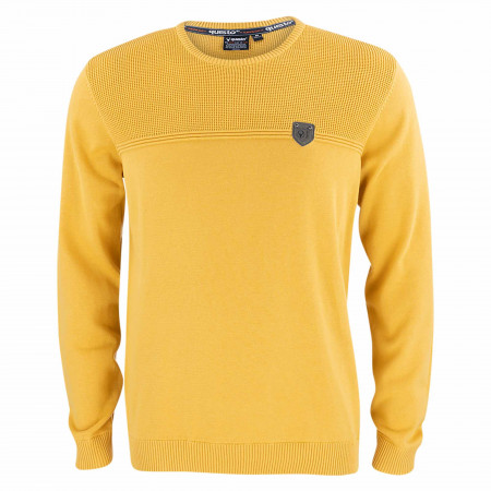 SALE % | QUESTO SAVAGE | Pullover - Regular Fit - Crewneck | Gelb online im Shop bei meinfischer.de kaufen