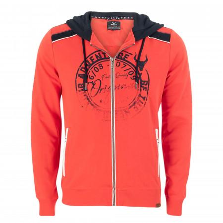 SALE % | QUESTO SAVAGE | Sweatjacke - Regular Fit - Kapuze | Orange online im Shop bei meinfischer.de kaufen