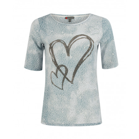SALE % | Street One | T-Shirt mit Strassherz | Blau online im Shop bei meinfischer.de kaufen