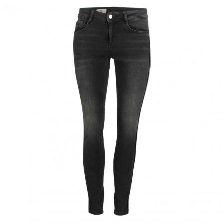 SALE % | Street One | Jeans - Slim Fit - Galonstreifen | Grau online im Shop bei meinfischer.de kaufen