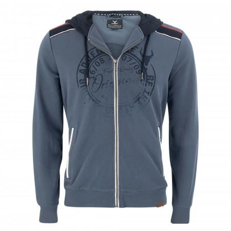 SALE %   QUESTO SAVAGE   Sweatjacke - Regular Fit - Kapuze   Blau online im Shop bei meinfischer.de kaufen