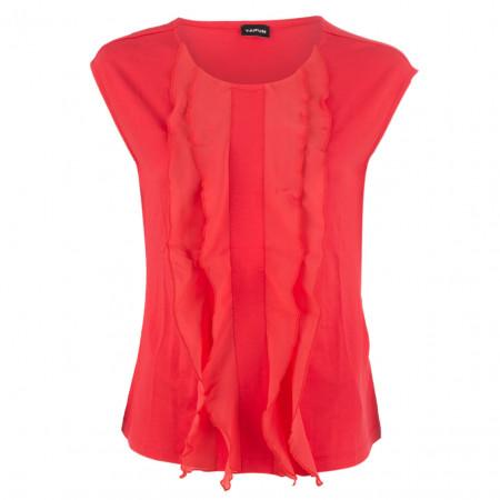 SALE % | Taifun | Blusenshirt - Regular Fit - Volants | Rot online im Shop bei meinfischer.de kaufen