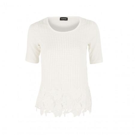 SALE % | Boss Casual | Shirt - Regular Fit - Häkel-Optik | Weiß online im Shop bei meinfischer.de kaufen