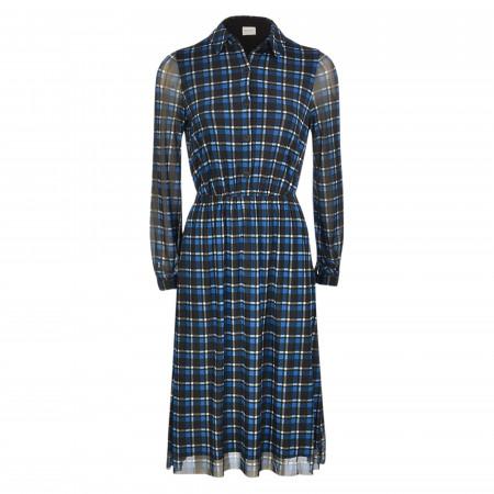 SALE % | Taifun | Kleid - Regular Fit - Glencheck | Blau online im Shop bei meinfischer.de kaufen