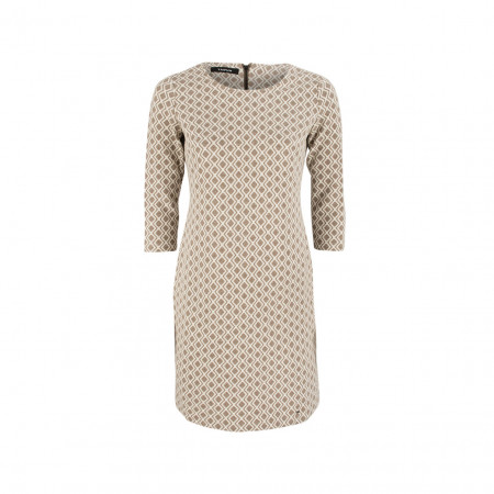 SALE % | Boss Casual | Kleid - Slim Fit - 3/4-Arm | Beige online im Shop bei meinfischer.de kaufen