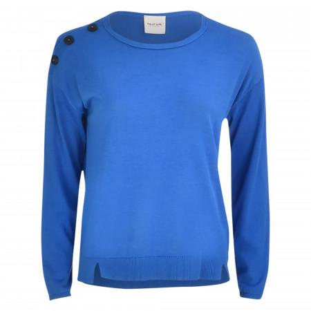 SALE % | Taifun | Pullover - Loose Fit - Crewneck | Blau online im Shop bei meinfischer.de kaufen
