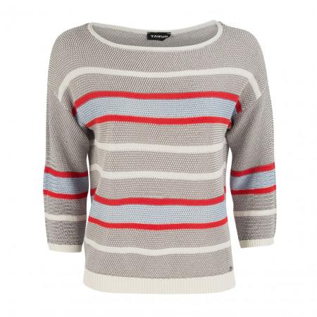 SALE % | Boss Casual | Strickpullover - Regular Fit - Stripes | Grau online im Shop bei meinfischer.de kaufen