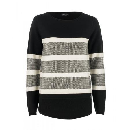 SALE % | Boss Casual | Pullover Streifen | Schwarz online im Shop bei meinfischer.de kaufen