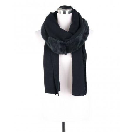 SALE % | Boss Casual | Schal - Fake Fur - Feinstrick | Blau online im Shop bei meinfischer.de kaufen