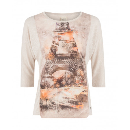 SALE % | Taifun | Meliertes Shirt  Eiffelturm | Beige online im Shop bei meinfischer.de kaufen