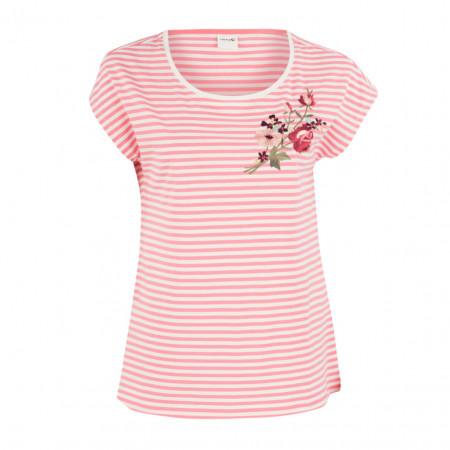 SALE %   Boss Casual   T-Shirt - Leisure Fit - Stripes   Rosa online im Shop bei meinfischer.de kaufen