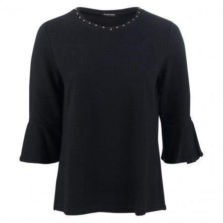 SALE % | Taifun | Shirt - Regular Fit - Nieten | Blau online im Shop bei meinfischer.de kaufen