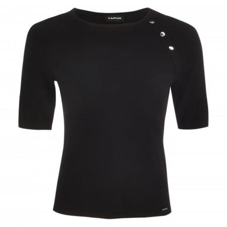 SALE %   Taifun   Shirt - Regular Fit - Crewneck   Schwarz online im Shop bei meinfischer.de kaufen