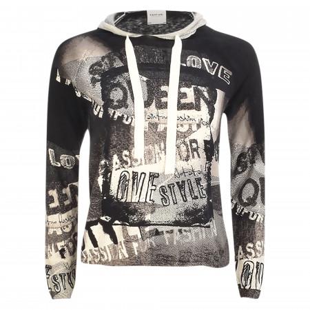 SALE % | Taifun | Sweatshirt - Loose Fit - Print | Schwarz online im Shop bei meinfischer.de kaufen