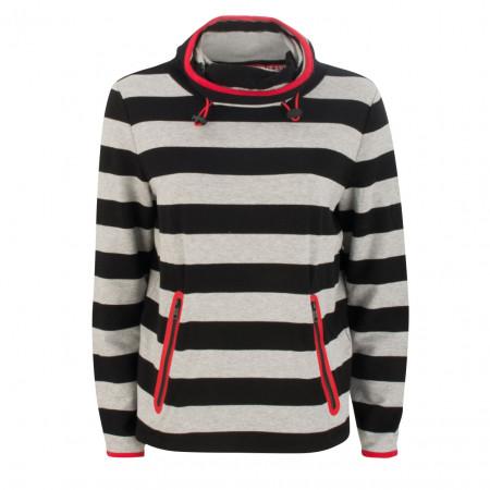 SALE % | Taifun | Sweater - Regular Fit - Schalkragen | Grau online im Shop bei meinfischer.de kaufen